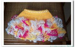 вязаная юбка с оборками