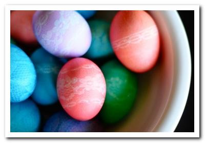 кружевные яйца своими руками