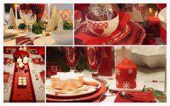 украшение стола на рождество