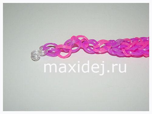 вязание браслета из резинок