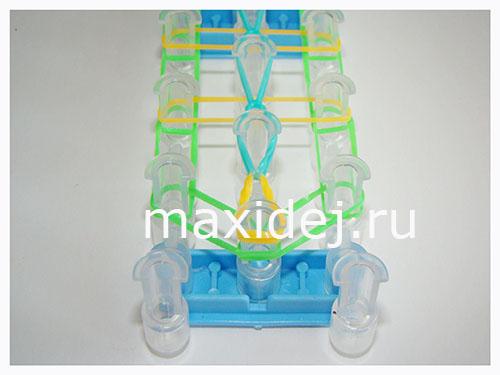 схема плетения браслет лестница