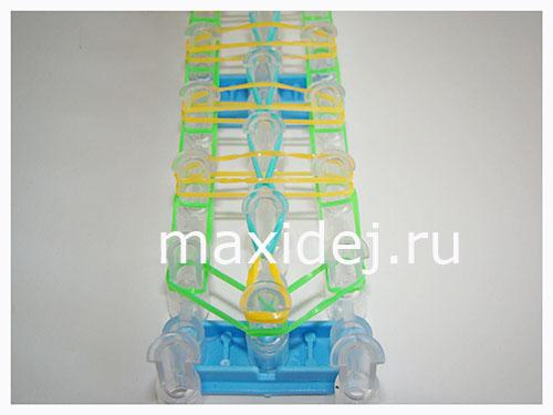 браслет лестница схема плетения