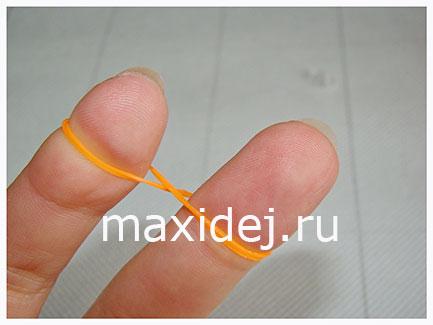 плетение рыбьего хвоста на пальцах