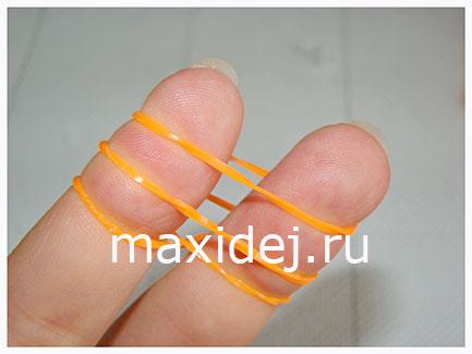 как плести браслет на пальцах
