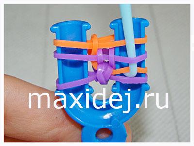 как сделать браслеты из резинок пошагово