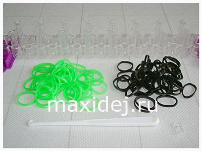 материалы для плетения браслета из резиночек