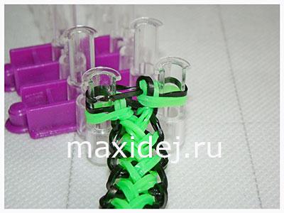 браслеты из резиночек колосок