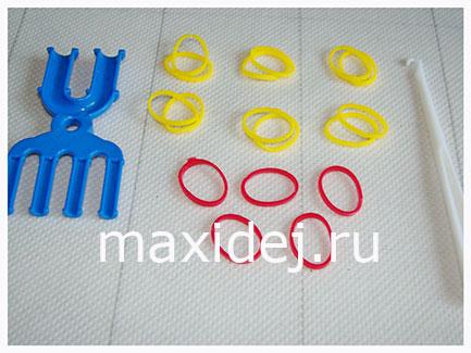 материалы для кольца из резинок