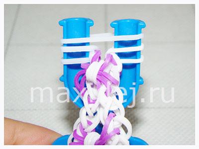 как заканчивать плетение из резиночек