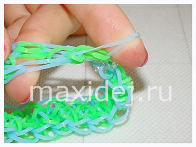 как соединить браслет из резиночек