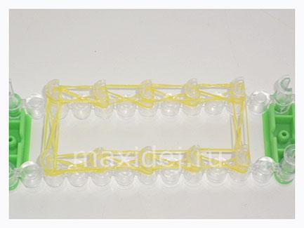 плетение утенка из резинок на станке