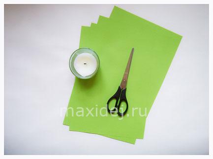 материалы для изготовления подсвечника из цветной бумаги