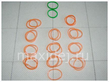 схема резиночек для тыквы