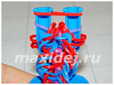 как плести браслет спираль на рогатке
