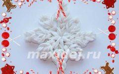 как сделать снежинку из резинок