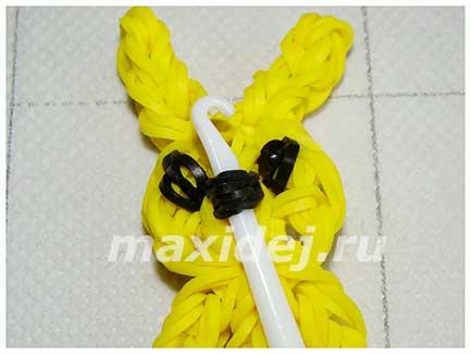плетение из резинок зайчик