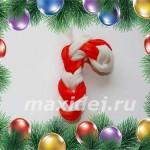 новогодний леденец из резинок