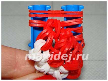 как сделать из резинок новогодний колпак