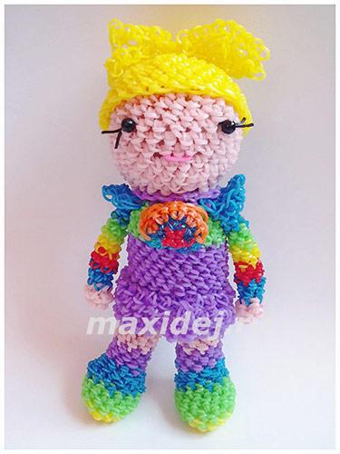 куклу из резинок лумигуруми