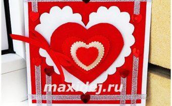 открытка на день влюбленных своими руками