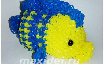 рыбка флаундер из резинок