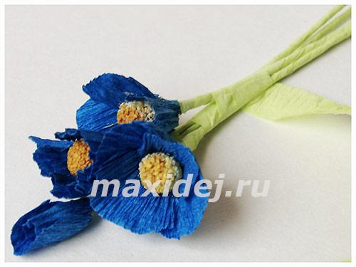 цветы из бумаги незабудки