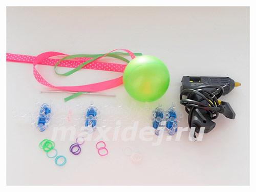 материалы для плетения шара из резинок