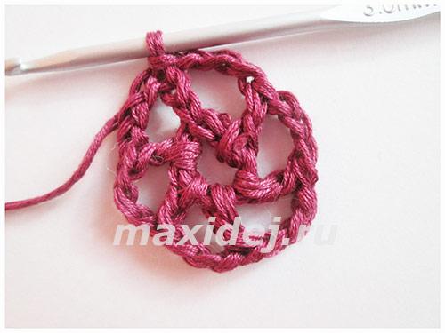 вязание украшения на ногу