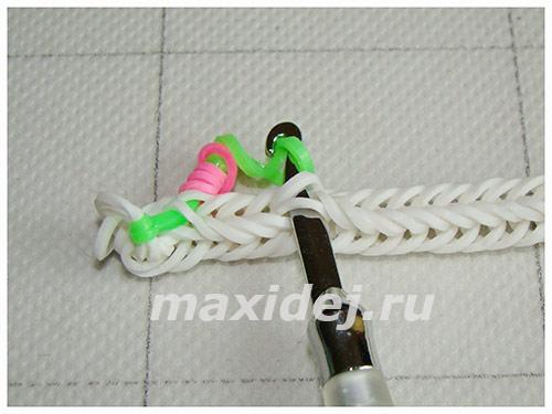 плетение из резинок цветущая лиана