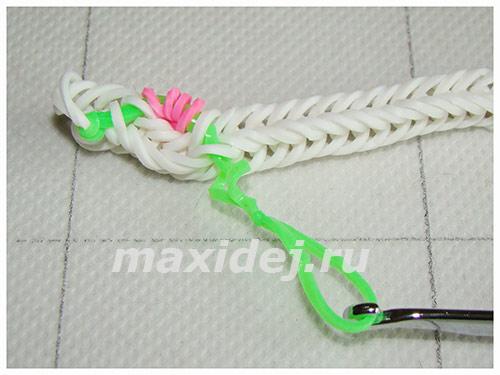 плетение из резинок крючком