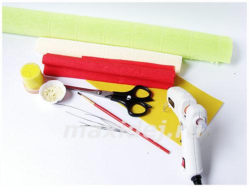 материалы для клубники из бумаги