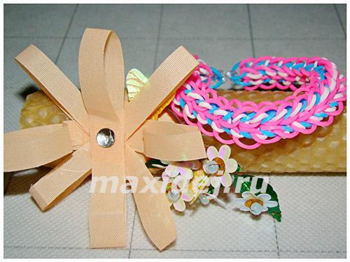 браслеты из резинок на рогатке фото