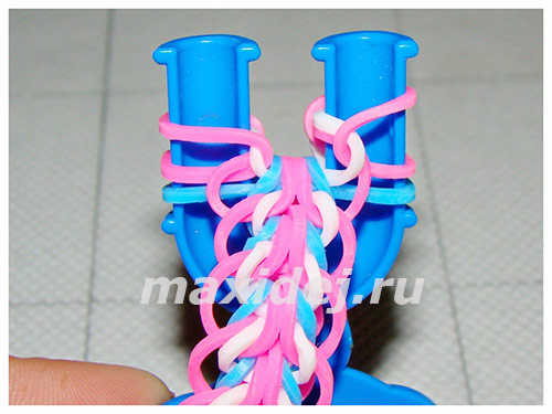 красивые браслеты из резинок на рогатке