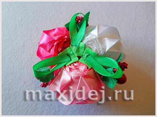 повязки с цветами канзаши