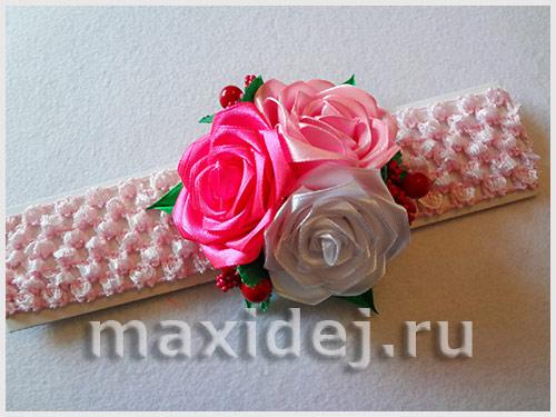 канзаши повязки для маленьких девочек