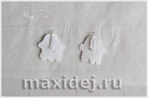 сережки привидения мастер класс