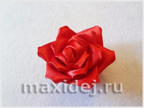 роза из ленты своими руками пошаговое
