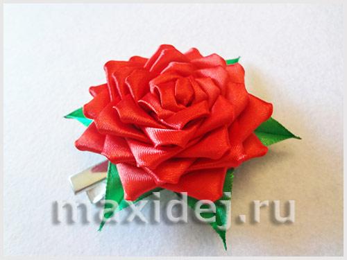 как делать розы из лент