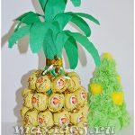 ананас из шампанского и конфет своими руками