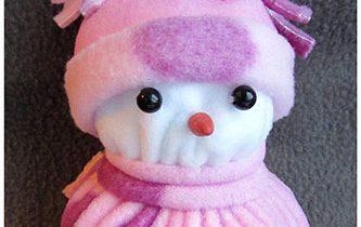снеговик из флиса своими руками мастер класс