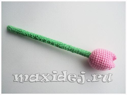вязание крючком тюльпаны схема
