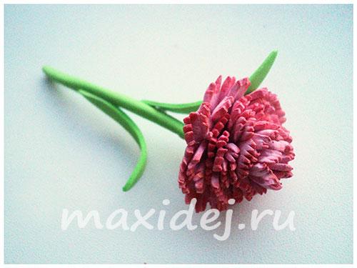гвоздика из фоамирана