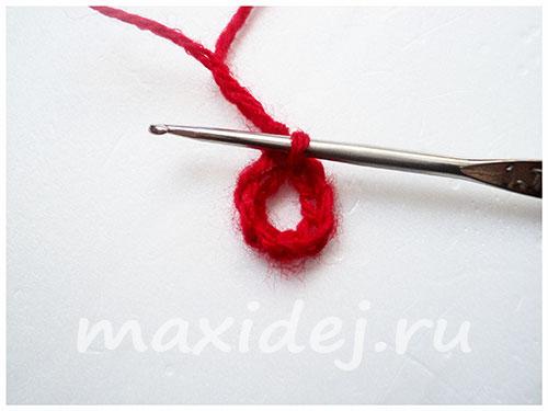 как связать гвоздику крючком схема