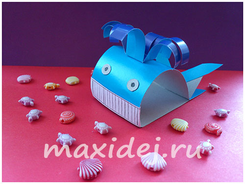 оригами из бумаги кит