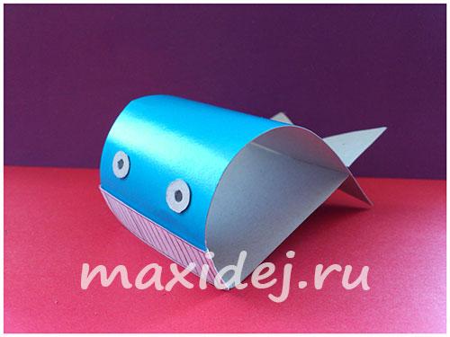 кит из бумаги для детей