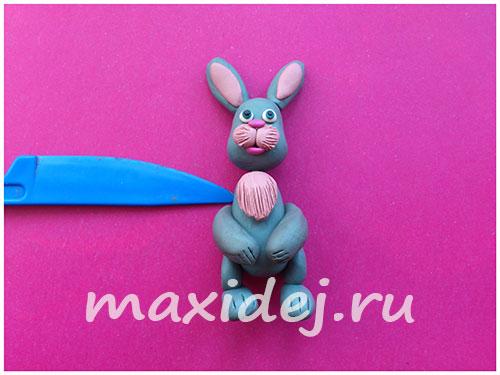 заяц из пластилина пошагово