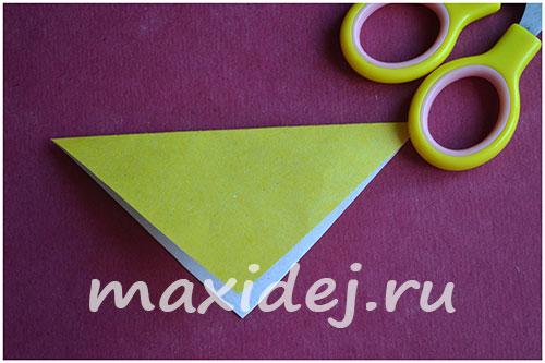 как сделать собачку оригами