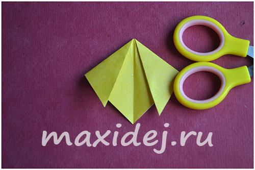 как сделать собачку оригами из бумаги
