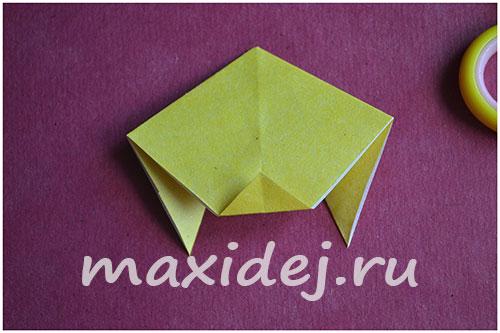 как сделать оригами собаку