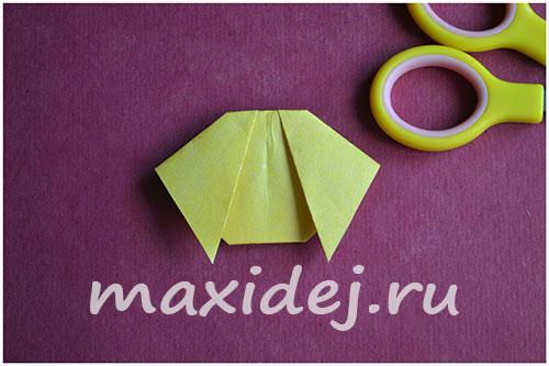 как сделать из бумаги собаку оригами